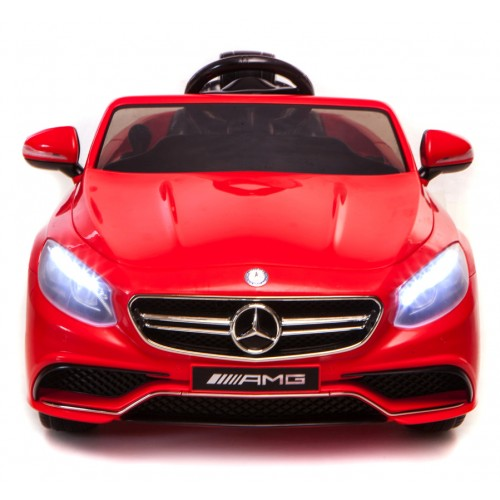 Mercedes-Benz S63 Ride on Car Kids RC Car Remote Control Electric Power Wheels W Radio & MP3 Red