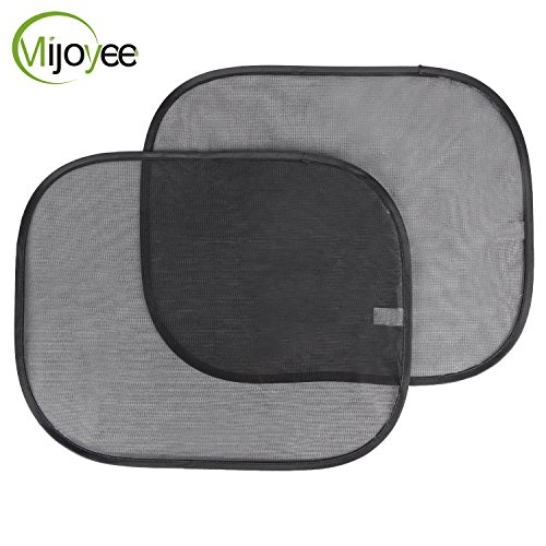 Mijoyee-(2 Pack),Static Cling Car Window Sun Shade Blocks UV Rays