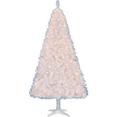 Pre-lit-6.5-Ft-Madison-Christmas-Tree-White-Clear-Lights