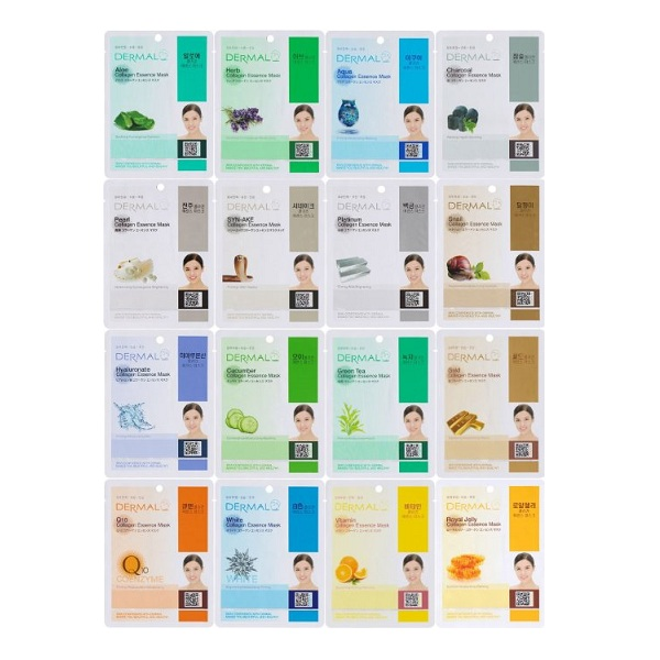 1. Dermal Korea Collagen Essence Full Face Facial Mask Sheet