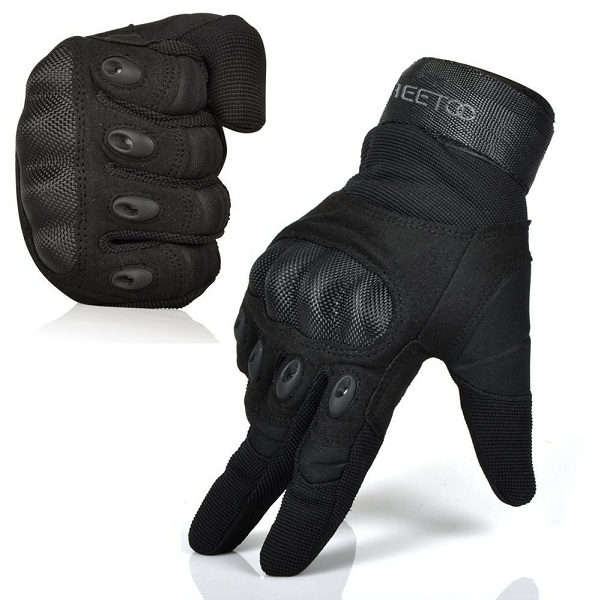 1. Freetoo Men's Full Finger Motorcycle Gloves
