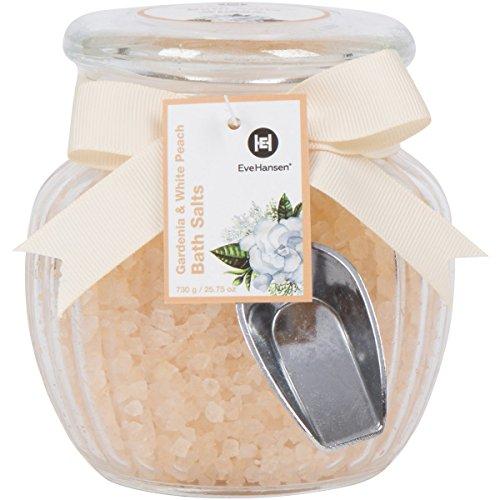1. Large 25oz Relaxing Spa Bath Salt in Beautiful Glass Jar & Scooper