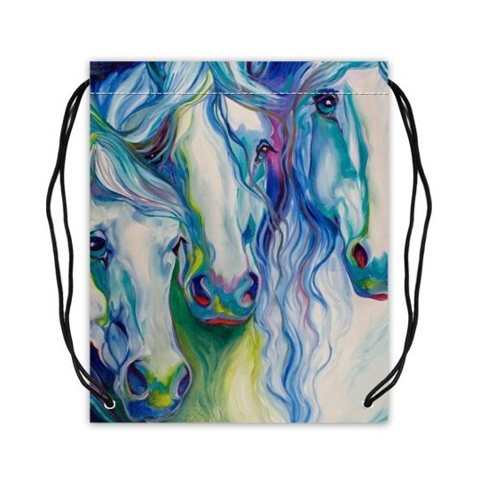 10. Colorful Abstract Watercolor Horse Art Sport Bag