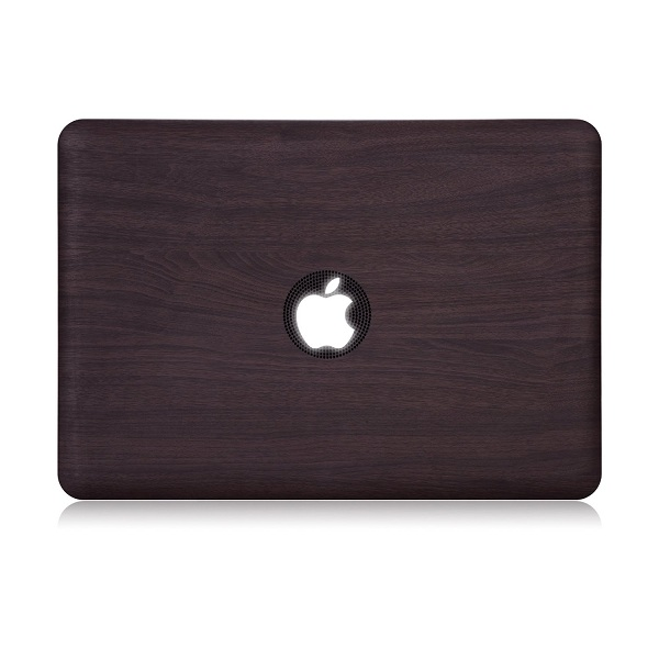 10. Dark Wood Pattern Case Hard Shell Cover