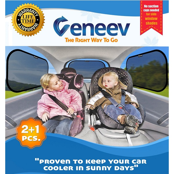 2. veneev Car Sun Shade for Side and Rear Window