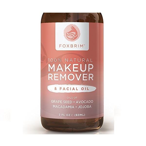 3. Foxbrim 100% Natural Makeup Remover & Facial Oil