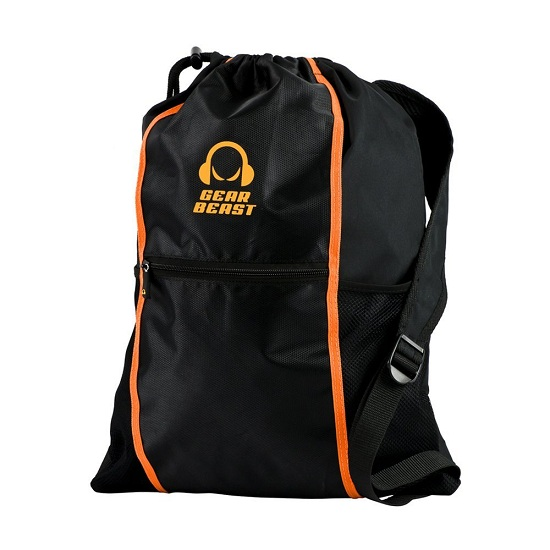 3. Gear Beast Drawstring Media Backpack