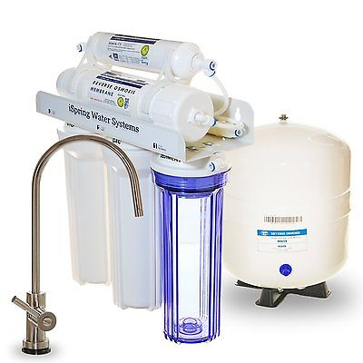 3. iSpring RCC7 Built in USA WQA Gold Seal Certified 5 Stage Reverse Osmosis Water Filter, 75 GPD, Transparent 1st Stage & Designer Faucet