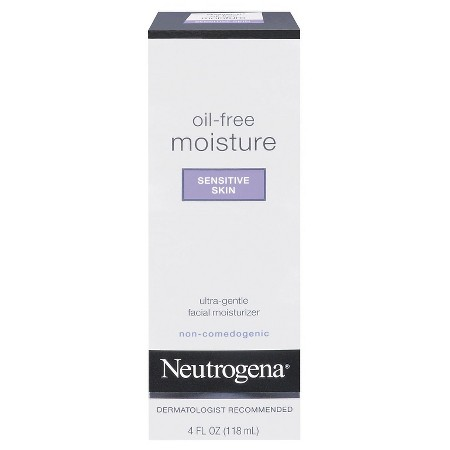 4 Neutrogena Oil-Free Moisture Sensitive Skin, 4 Fl. Oz