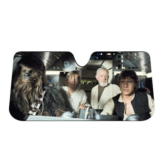 4. Plasticolor 003700R01 Star Wars Accordion Sunshade