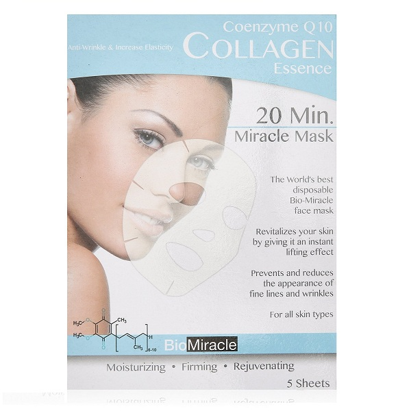 5. Bio-Miracle Coenzyme Q10 Collagen Essence 20 Min. Miracle Mask