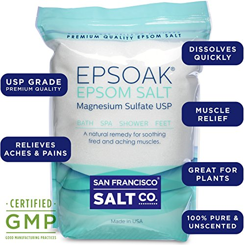 5. Epsoak Epsom Salt 19.75 Lbs - 100% Pure Magnesium Sulfate, Made in USA