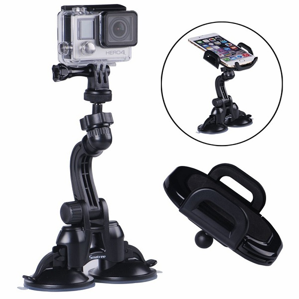 5. Smatree® Double Suction Cup Mount for GoPro