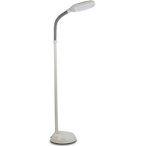 6 Brightech - Litespan LED Reading Floor Lamp - Dimmable Full Spectrum LED Light - Fully Adjustable Neck - 12 Watts - Jet Black