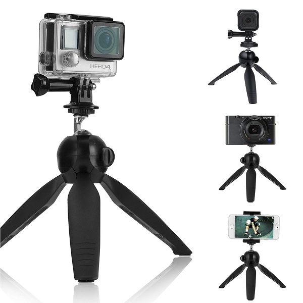 6. CamKix Premium 3-in-1 Tripod Base and Hand Stabilizer Grip