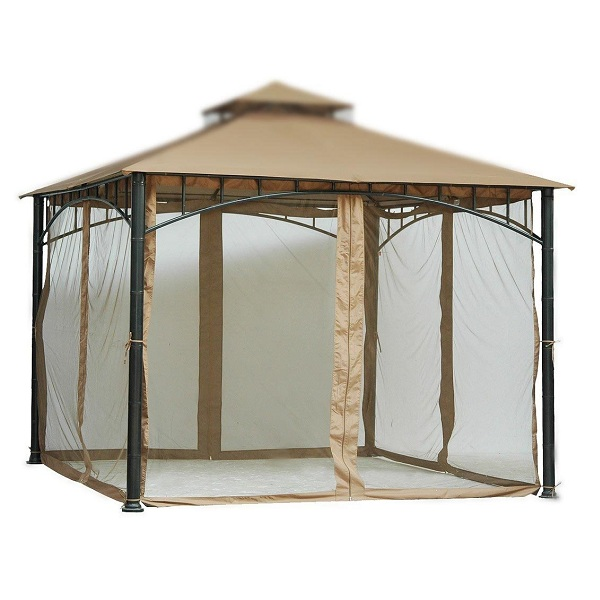 6. Tall Beige Mosquito Net