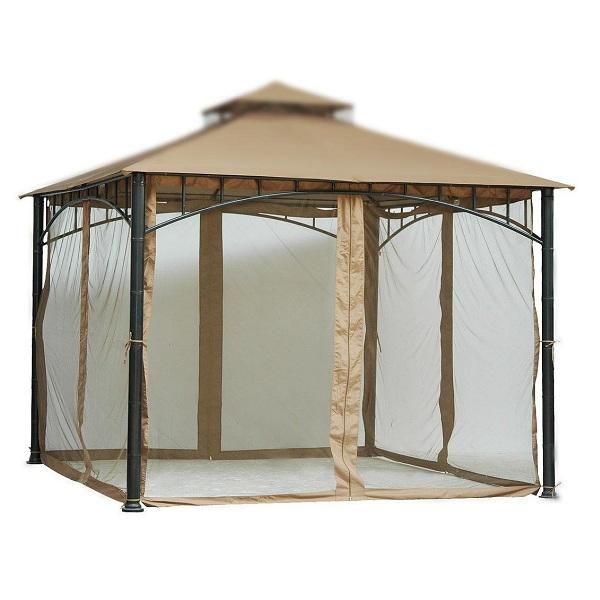 6. Tall Beige Mosquito Net