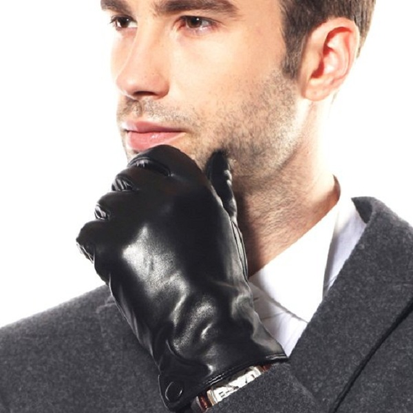 6. WARMEN Men's Driving Leather Gloves