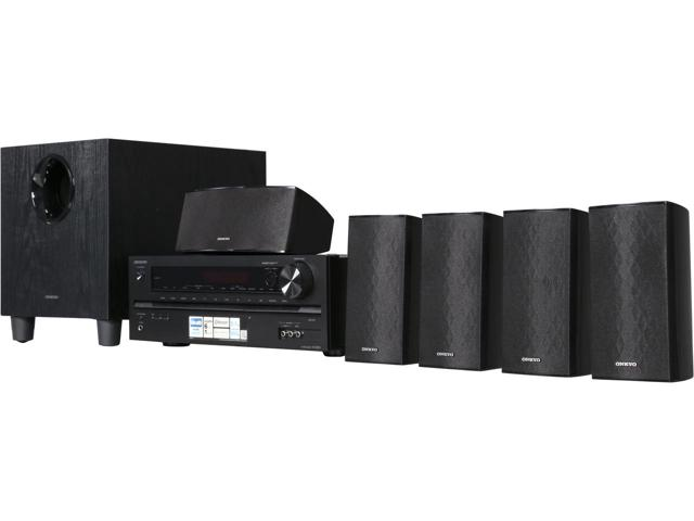 7. Onkyo HT-S3700 5.1-Channel Home Theater Receiver Speaker Package