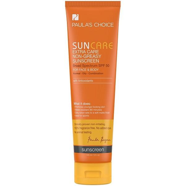 7. Paula's Choice Extra Care Non-Greasy Sunscreen