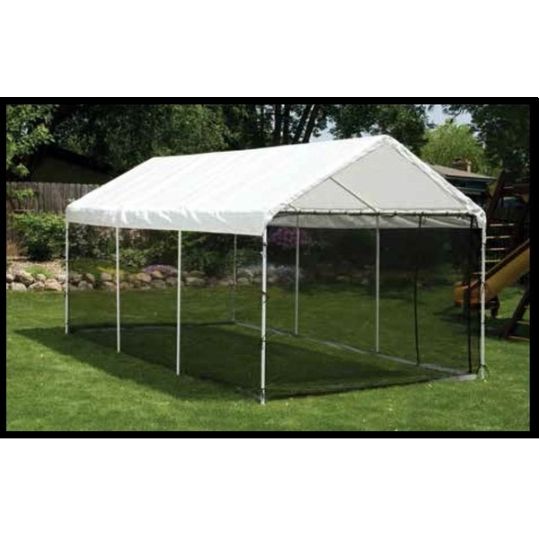 7. ShelterLogic 8-Leg Canopy with Screen Kit