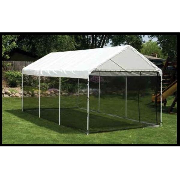 7. ShelterLogic 8-Leg Canopy with Screen Kit