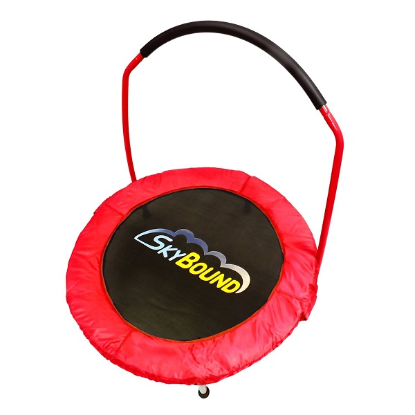 8. SkyBound Spring-Free Mini Trampoline with Handle Bar