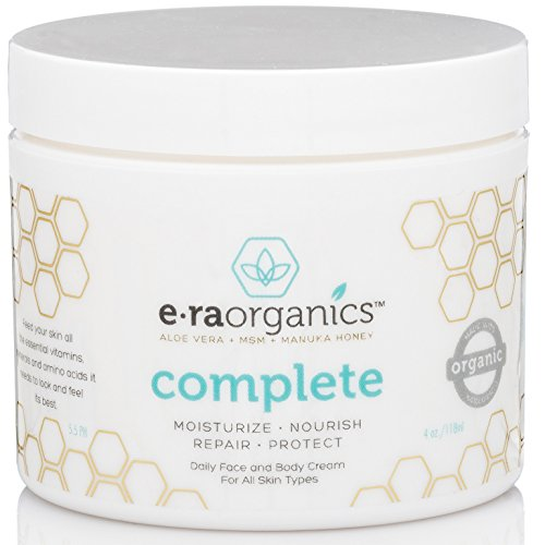9 Era Organics Natural Face Moisturizer Cream 4oz