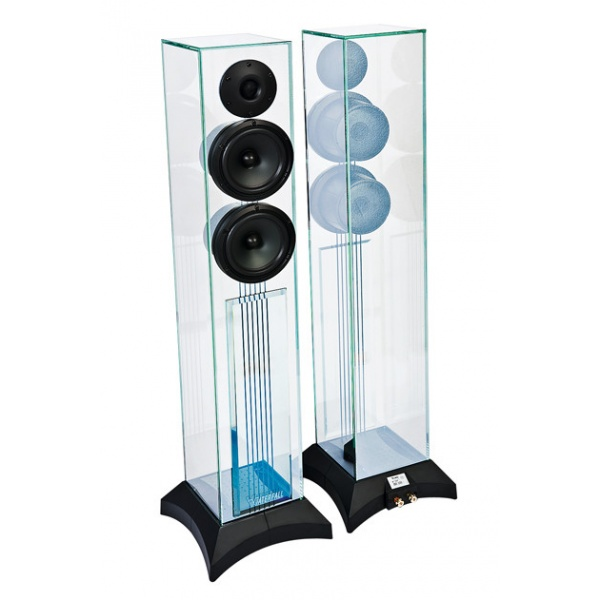 9 Waterfall Audio Niagara Diamond Glass Floor Standing Loudspeakers