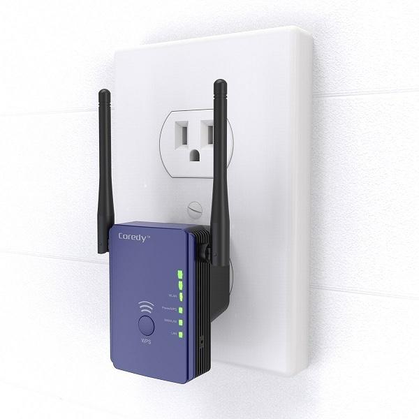 9. Coredy N300 Mini Wi-Fi Range Extender