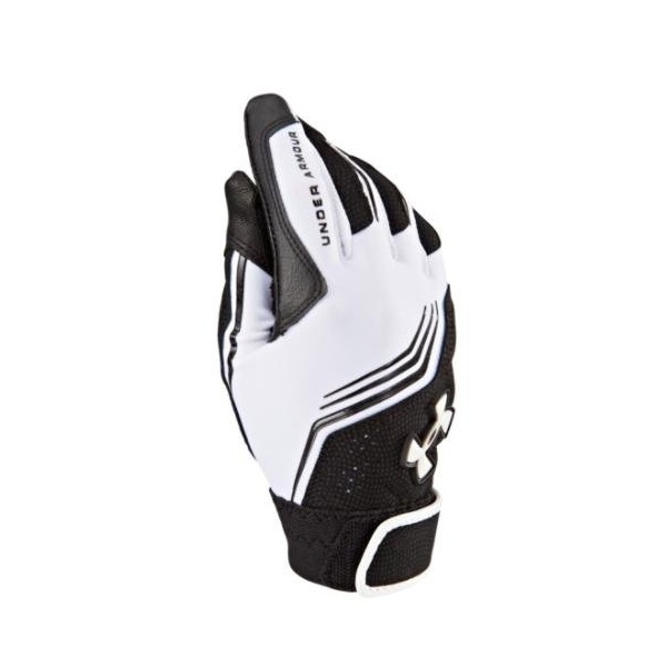 9. Under Armour Boys' UA Clean Up Batting Gloves