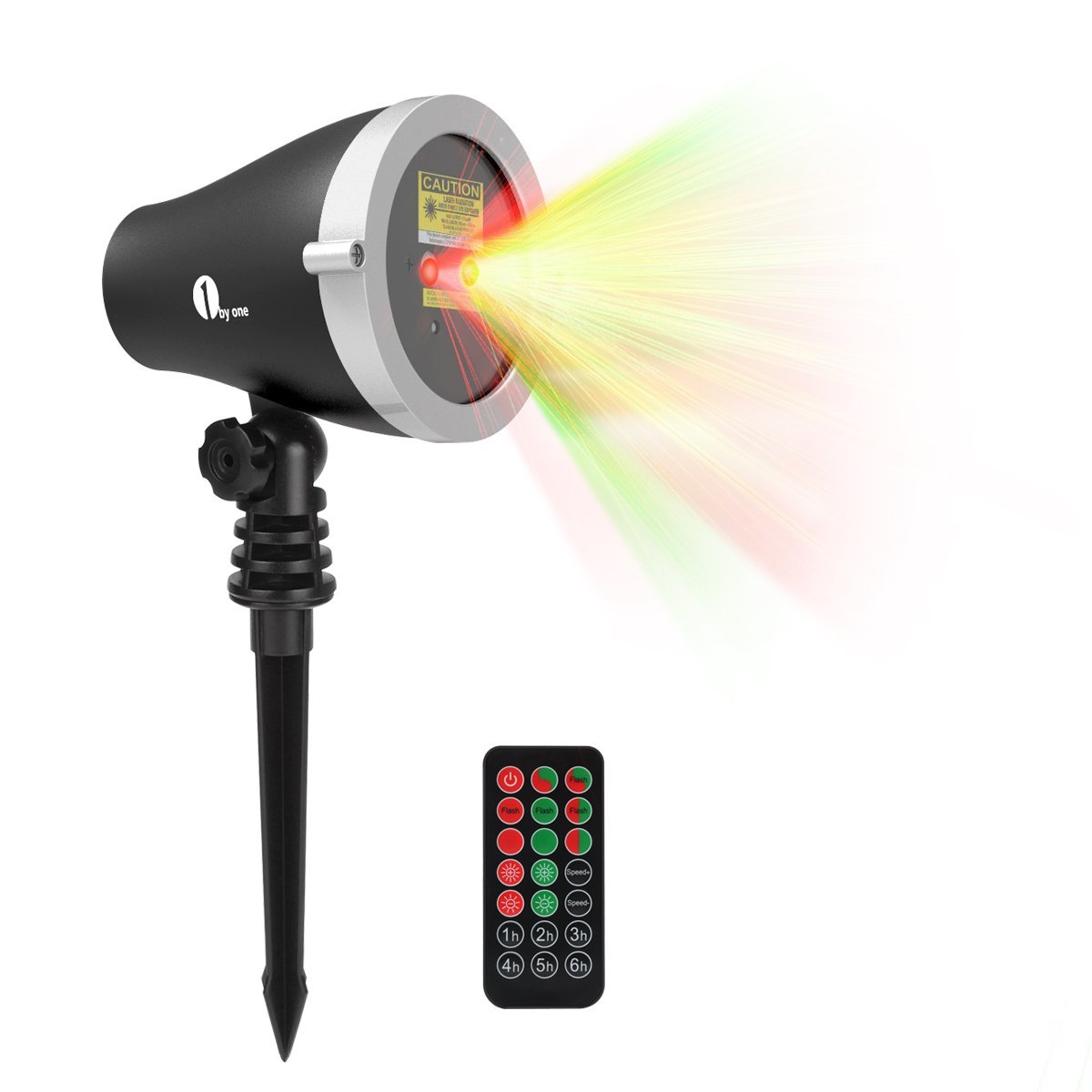 1 1byone Aluminum Alloy Outdoor Laser Christmas Light Projector