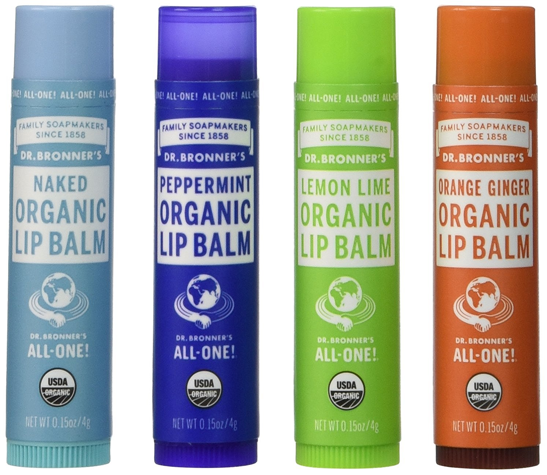 2 Dr. Bronner's Organic Lip Balm - 4 Pack