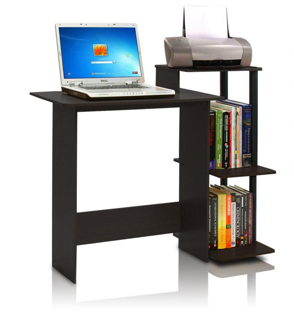 3 Furinno 11192EX BK Efficient Computer Desk Espresso