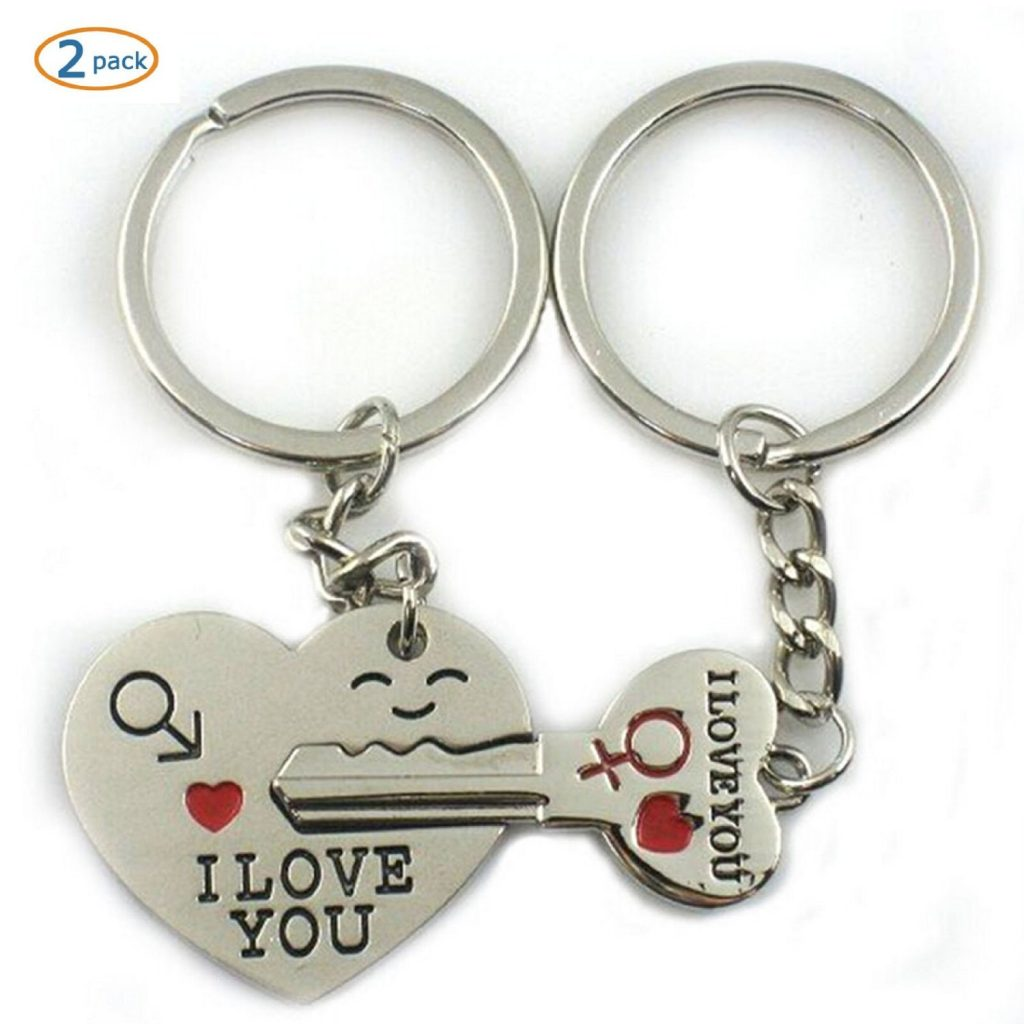 3 World Pride Key to My Heart Cute Couple Keychain Love Keychain Key Ring