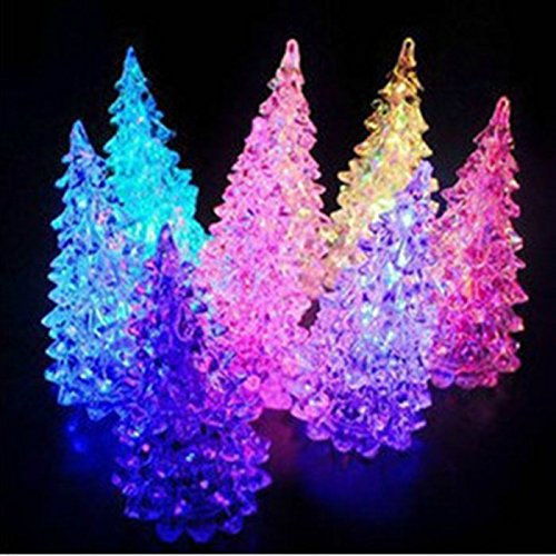4 Domire Color Changing Christmas Decoration Night Light Tree