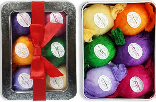 8 Bath Bombs Gift Set - USA Made - Lush Bubble Bath Alternative