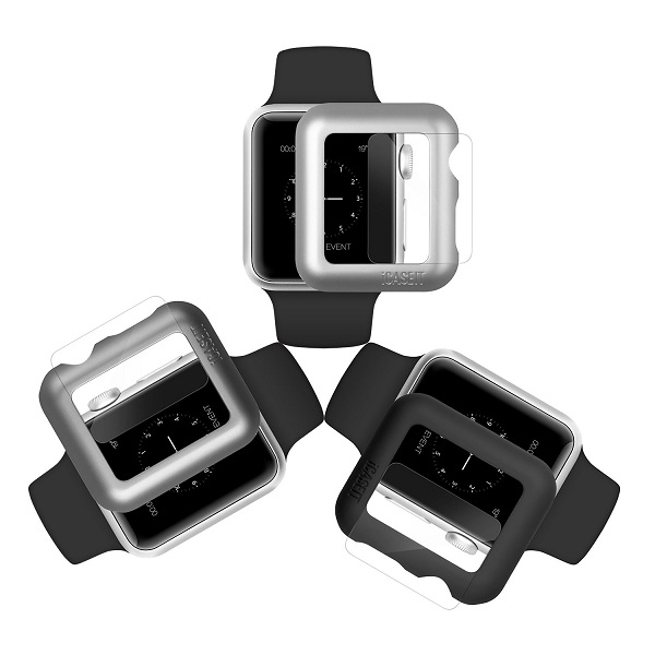 8. iCASEIT Apple Watch Case & Glass
