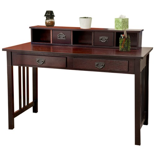 9 Best Choice Products® Mission Espresso Solid Wood Writing Desk Home Office Computer Desk