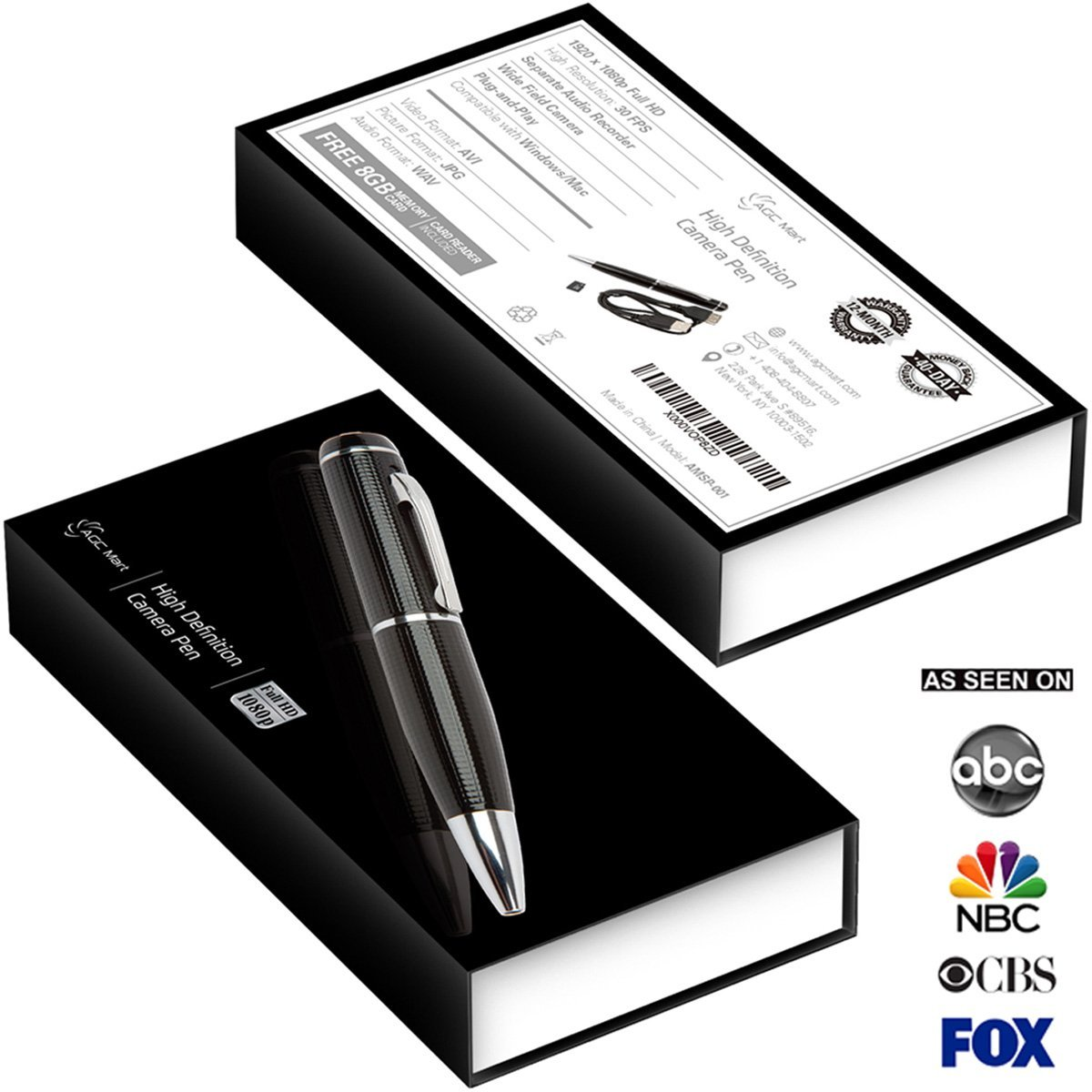 2. AGC Mart Hidden Camera Spy Pen