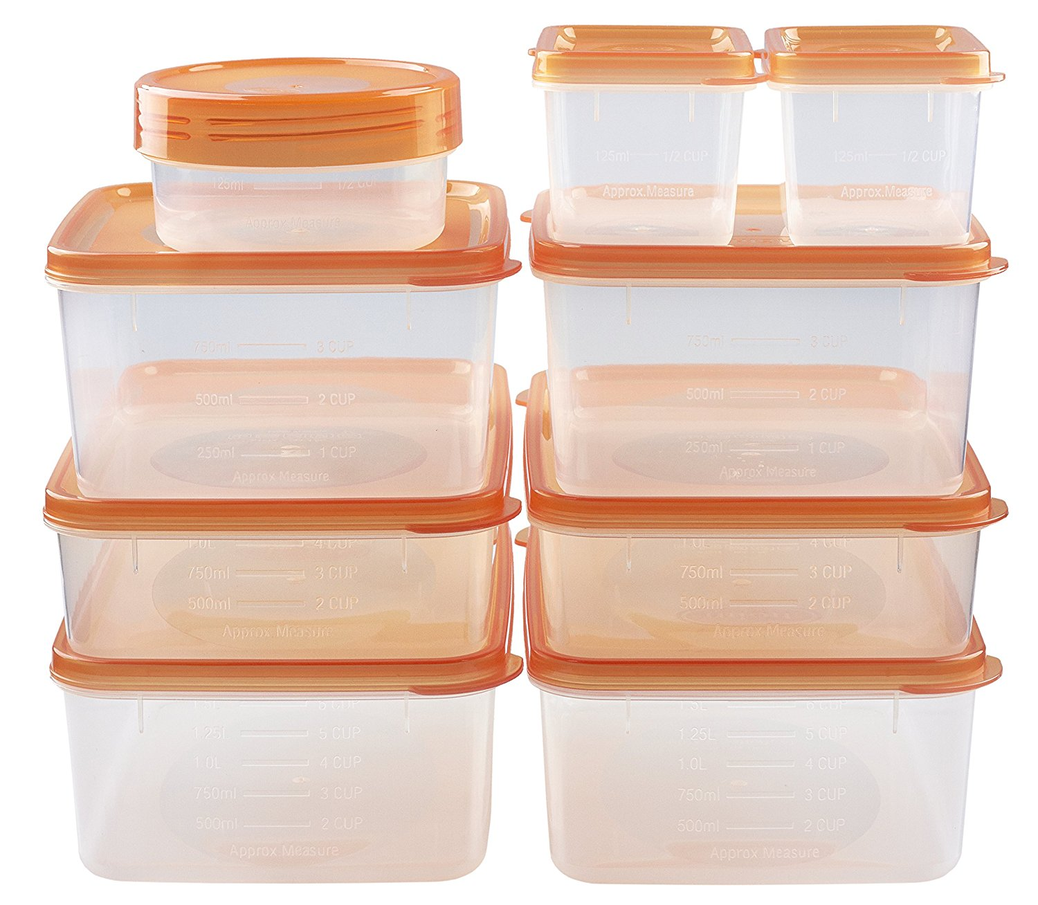3. hölm BPA Free Reusable Square Food Storage Containers with Lids