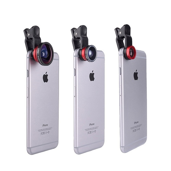 3. YOPO 3-in-1 Clip-On Camera Lens Kit