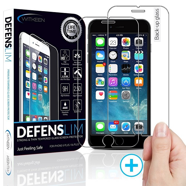 4. Witkeen Ultra-Clear HD Tempered Glass Protector