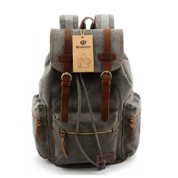 5. BLUBOON Canvas Vintage Backpack