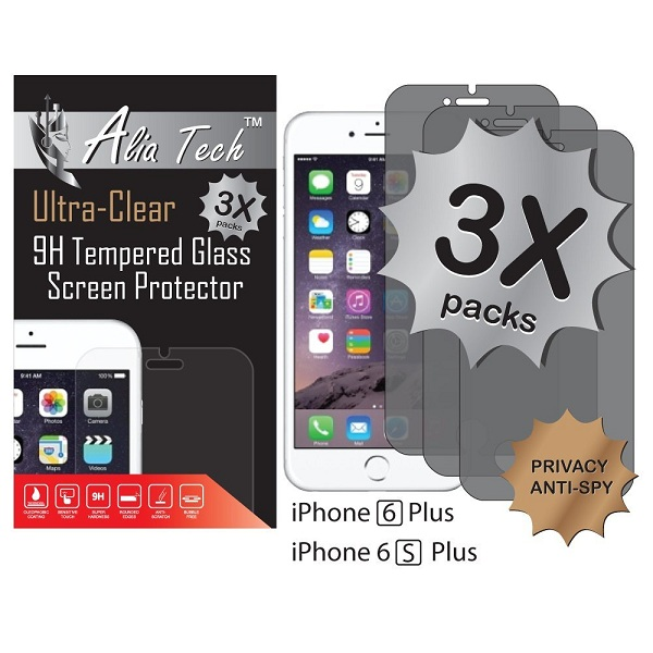 8. Alia Tech™ Anti-Spy Privacy Tempered Glass Screen Protector
