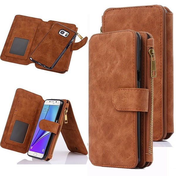 8. Case-Up Zipper Cash Storage Galaxy Note 5 Case