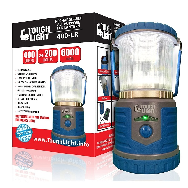 4. Tough Light LED Rechargeable Lantern
